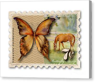 7 Cent Butterfly Stamp Canvas Print by Amy Kirkpatrick