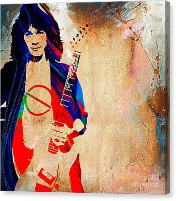 Eddie Van Halen Canvas Print by Marvin Blaine
