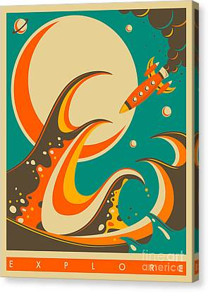 Explore Canvas Print by Jazzberry Blue