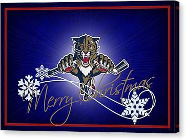 Florida Panthers Canvas Print by Joe Hamilton