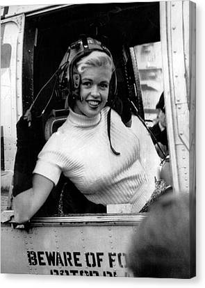 Jayne Mansfield Canvas Print by Retro Images Archive