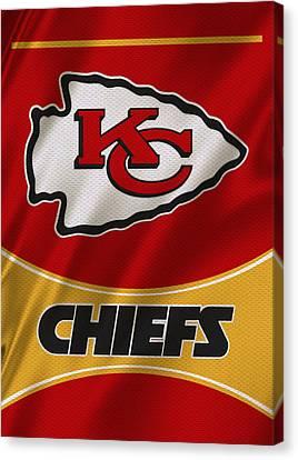 Kansas City Chiefs Uniform Canvas Print by Joe Hamilton