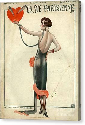 La Vie Parisienne  1925  1920s France Canvas Print by The Advertising Archives