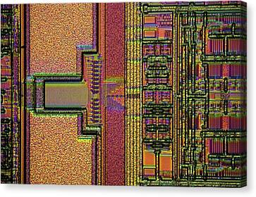 Microchip Surface Canvas Print by Frank Fox