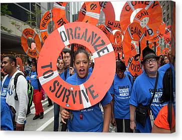 People's Climate March Canvas Print by Jim West