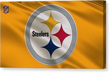Pittsburgh Steelers Uniform Canvas Print by Joe Hamilton