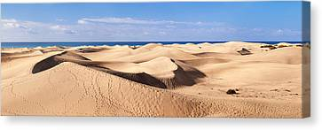 Sand Dunes In A Desert, Maspalomas Canvas Print by Panoramic Images