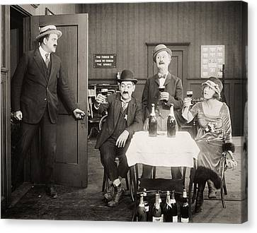 Silent Film Still: Drinking Canvas Print by Granger