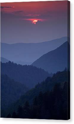 Smoky Mountain Sunset Canvas Print by Andrew Soundarajan