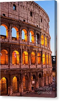 The Majestic Coliseum - Rome Canvas Print by Luciano Mortula