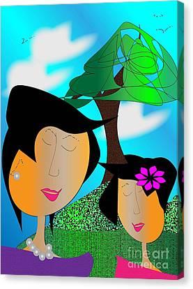 Together Canvas Print by Iris Gelbart