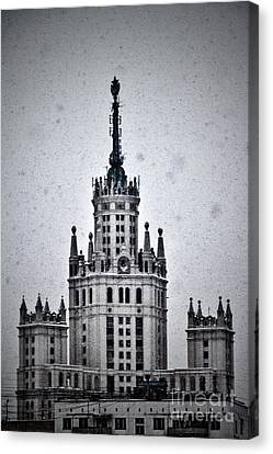 7 Towers Of Moscow Canvas Print by Stelios Kleanthous