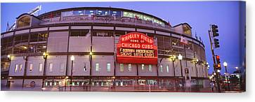 Usa, Illinois, Chicago, Cubs, Baseball Canvas Print by Panoramic Images