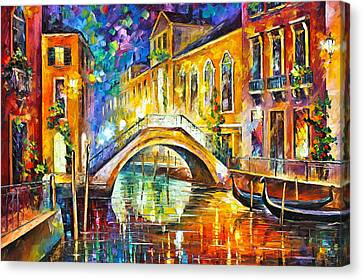 Venice Canvas Print by Leonid Afremov