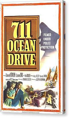711 Ocean Drive, Us Poster, Bottom Canvas Print by Everett