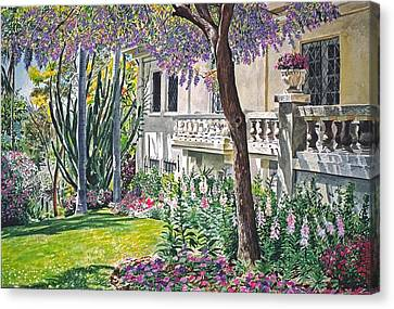 A Visit To Virginia's Canvas Print by David Lloyd Glover