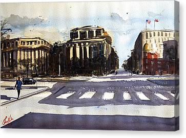 7th And Penn Canvas Print by James Nyika