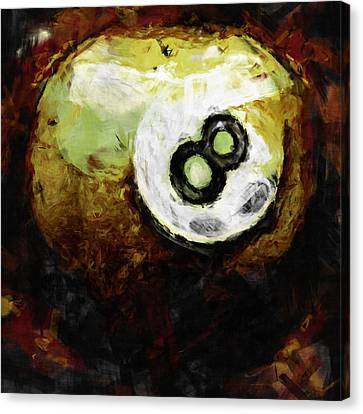 8 Ball Abstract Canvas Print by David G Paul