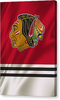 Chicago Blackhawks Uniform Canvas Print by Joe Hamilton