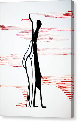 Dinka Lady - South Sudan Canvas Print by Gloria Ssali