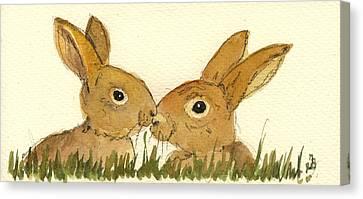 Hare Canvas Print by Juan  Bosco