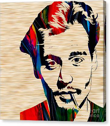 Johnny Depp Canvas Print by Marvin Blaine