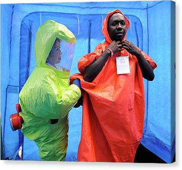 Major Emergency Decontamination Training Canvas Print by Public Health England