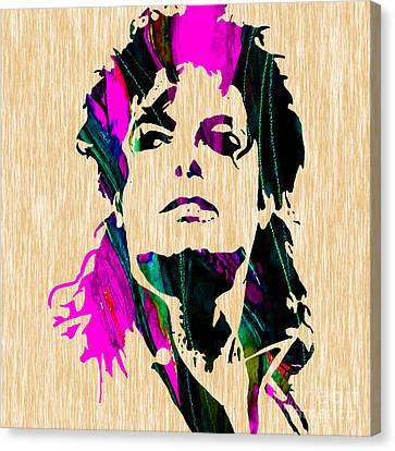 Michael Jackson Painting Canvas Print by Marvin Blaine