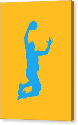 Nba Shadow Players Canvas Print by Joe Hamilton