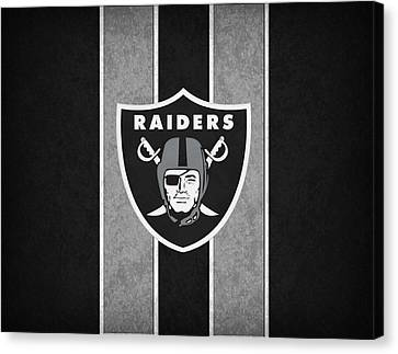 Oakland Raiders Canvas Print by Joe Hamilton