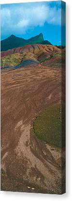 Rock Formations On A Landscape Canvas Print by Panoramic Images