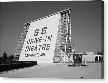 Route 66 - Drive-in Theatre Canvas Print by Frank Romeo