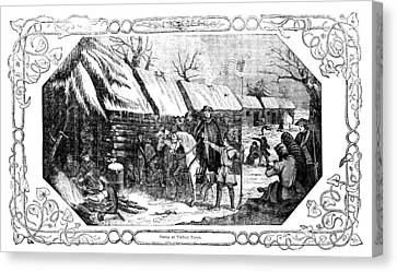 Valley Forge, Winter 1777 Canvas Print by Granger