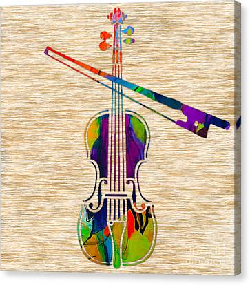 Violin Canvas Print by Marvin Blaine