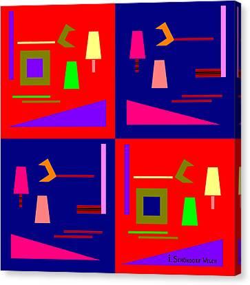 875 - Pop Piece Canvas Print by Irmgard Schoendorf Welch