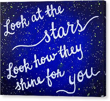 8x10 Look At The Stars Canvas Print by Michelle Eshleman