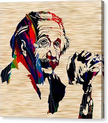 Albert Einstein Canvas Print by Marvin Blaine