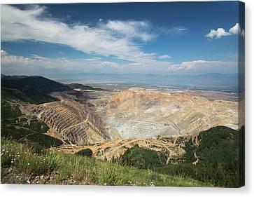Bingham Canyon Copper Mine Canvas Print by Jim West