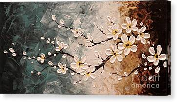 Cherry Blossoms Canvas Print by Tomoko Koyama