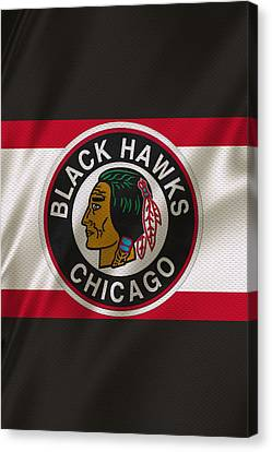 Chicago Blackhawks Uniform Canvas Print by Joe Hamilton