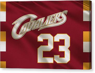 Cleveland Cavaliers Uniform Canvas Print by Joe Hamilton