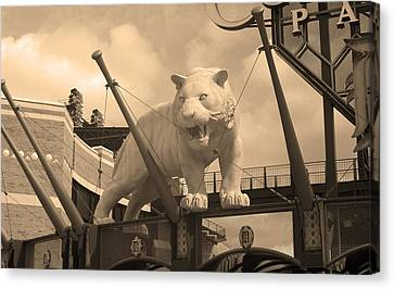 Comerica Park - Detroit Tigers Canvas Print by Frank Romeo