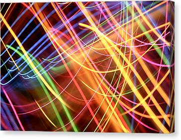 Energy Lines Canvas Print by Les Cunliffe