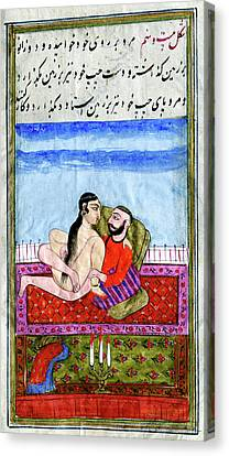 Erotic Indian Story Canvas Print by Cci Archives