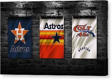 Houston Astros Canvas Print by Joe Hamilton