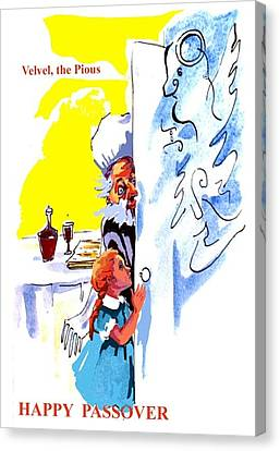 Passover Angel Eliyahu Canvas Print by Shirl Solomon