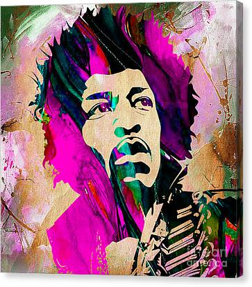 Jimi Hendrix Collection Canvas Print by Marvin Blaine