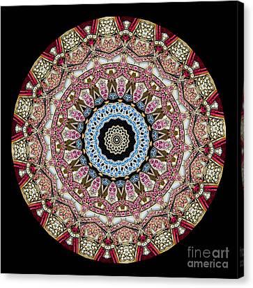 Kaleidoscope Colorful Jeweled Rhinestones Canvas Print by Amy Cicconi