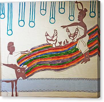 Kintu And Nambi Canvas Print by Gloria Ssali