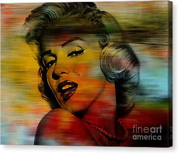 Marilyn Monroe Canvas Print by Marvin Blaine